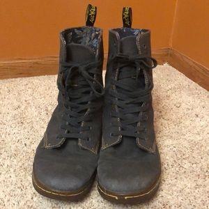 Dr Marten Air Wait fall boots.  Grey
